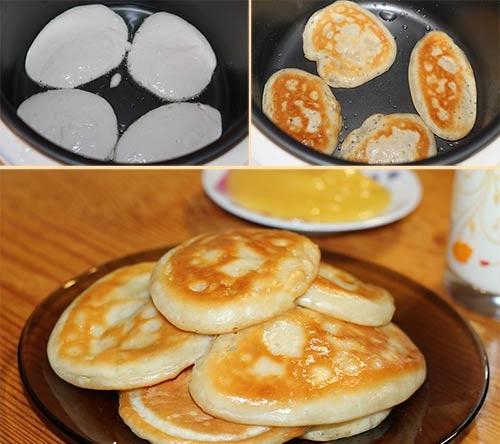 Как приготовить пышные оладьи на молоке. Рецепты с фото пошагово: классический на дрожжах, с яйцами и без, с разрыхлителем, яблоками, бананом, содой
