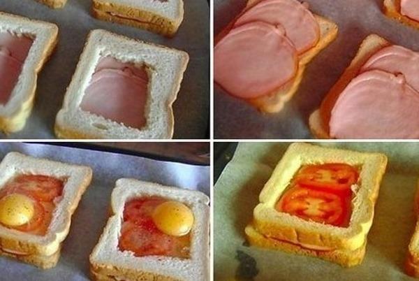 горячие сэндвичи с ветчиной