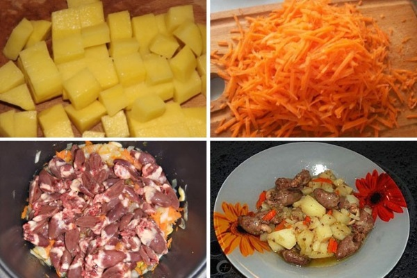 Куриные сердечки в мультиварке. Рецепты с фото пошагово: с картошкой, сметаной, гречкой, овощами