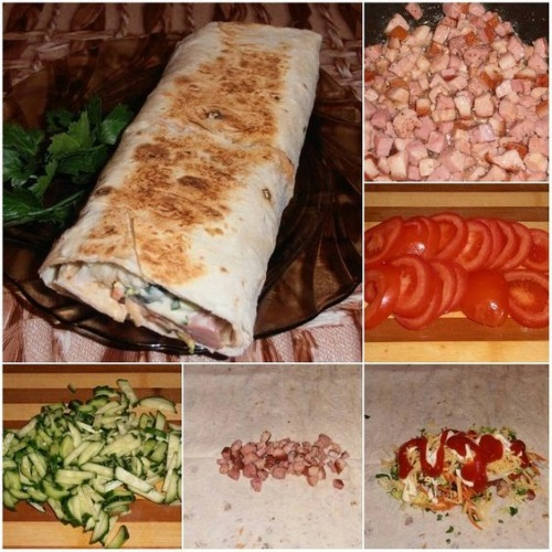 Шаурма - рецепты, как приготовить пошагово с фото в домашних условиях