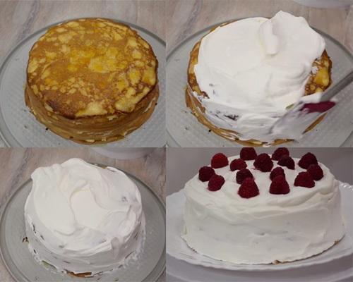 Торт на сковороде со сгущенкой, заварным кремом. Рецепт, как приготовить пошагово в домашних условиях