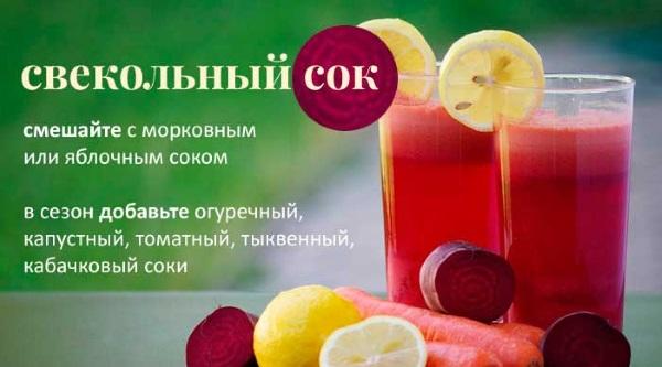 Свекольный сок. Польза и вред, свойства и противопоказания. Как пить от насморка, при онкологии, от давления