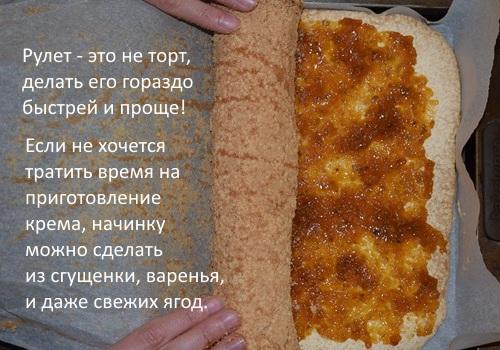 Бисквитный рулет. Лучшие, простые и быстрые рецепты приготовления пошагово с фото