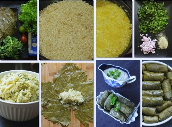 Долма в виноградных листьях. Рецепт по-армянски, азербайджански, овощная. Как приготовить блюдо пошагово с фото