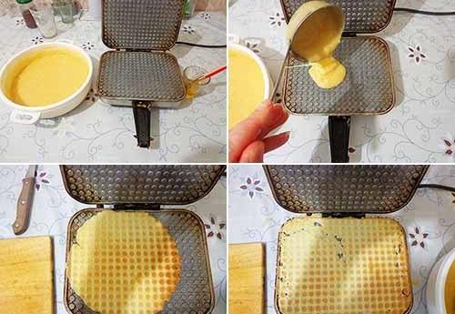 Крем для вафельных трубочек. Рецепт для электровафельницы, как приготовить белковый, заварной, творожный, из слоеного теста