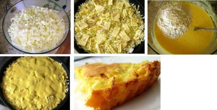 Капустный пирог на скорую руку. Рецепт для ленивых, заливной, вкусный на кефире. Как приготовить