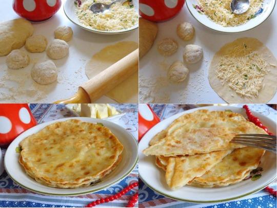 Лепешки на кефире. Рецепт на сковороде с ветчиной, колбасой, картошкой, зеленью, сырных, пышных