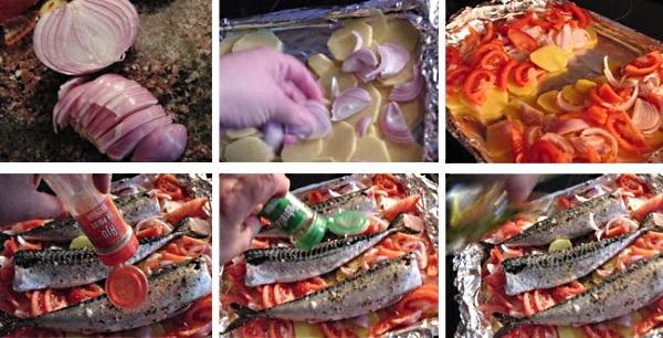 Запеченная скумбрия в фольге в духовке. Рецепт, как приготовить с лимоном, картошкой, овощами
