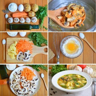 Суп с клецками: рецепт пошаговый с курицей, мясом и без, зажаркой в мультиварке, на курином бульоне
