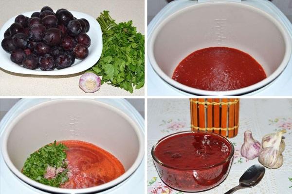Ткемали из сливы. Рецепт классический на зиму, из алычи желтой, красной, терна, чернослива, грузинский