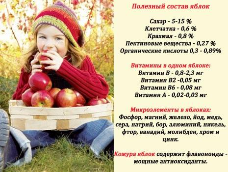 Яблоки. Польза и вред для организма при диабете, запоре, похудении, беременности. Железо, калорийность зеленых, печеных, сушеных, моченых