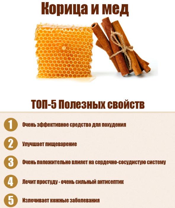 Корица с медом. Полезные свойства, рецепты лечения суставов, от холестерина, для похудения