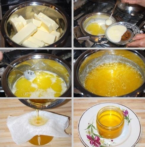 Топленое масло. Польза и вред, калорийность, рецепты приготовления в домашних условиях
